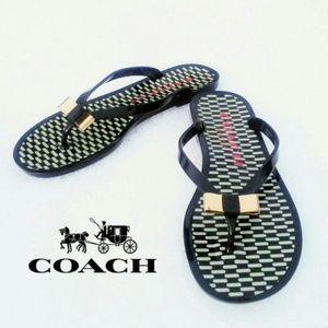 COACH Landon Jelly Plastic Flip Flops Size 6B